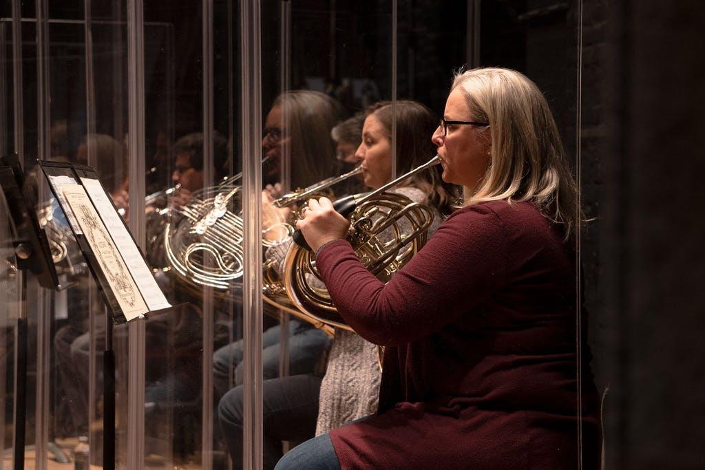 DSO principal horn player Karen Schubert