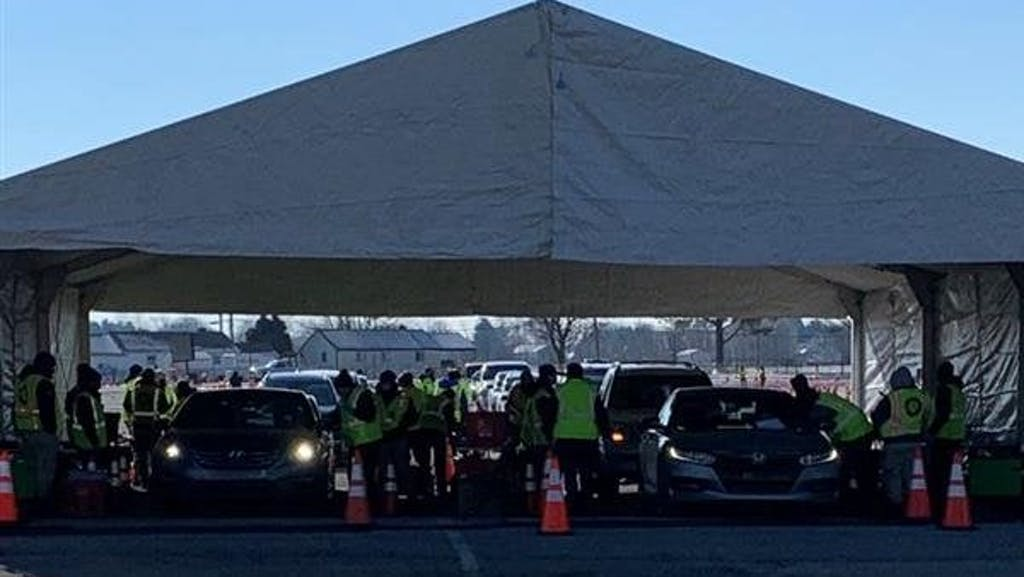 The FEMA mass vaccination site opened Sunday at the Dover speedway.