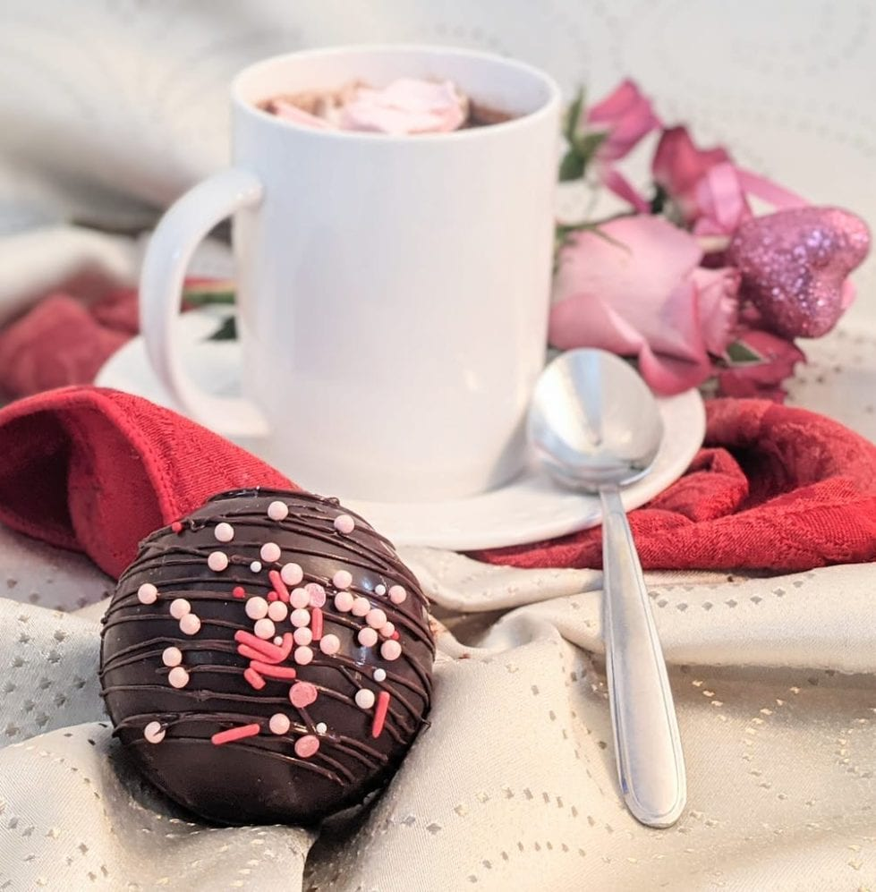 3 Little Chefs will offer Hot Cocoa Bombs for Valentine's Day.