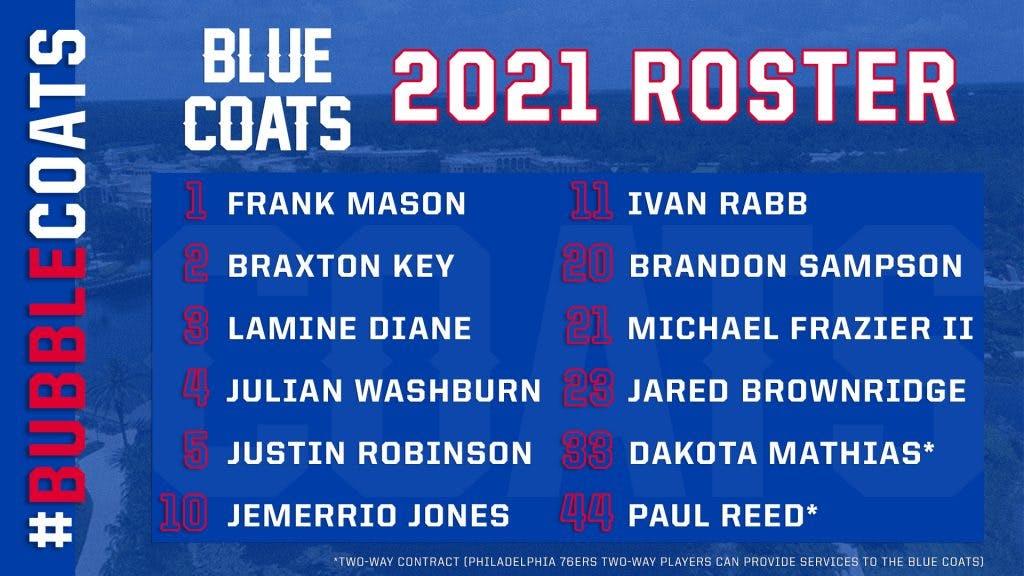 Blue Coats 2021 roster