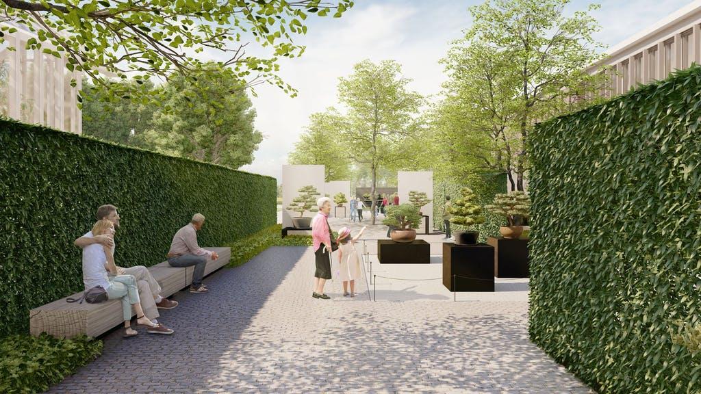 The new Bonsai Courtyard. (Longwood Gardens)