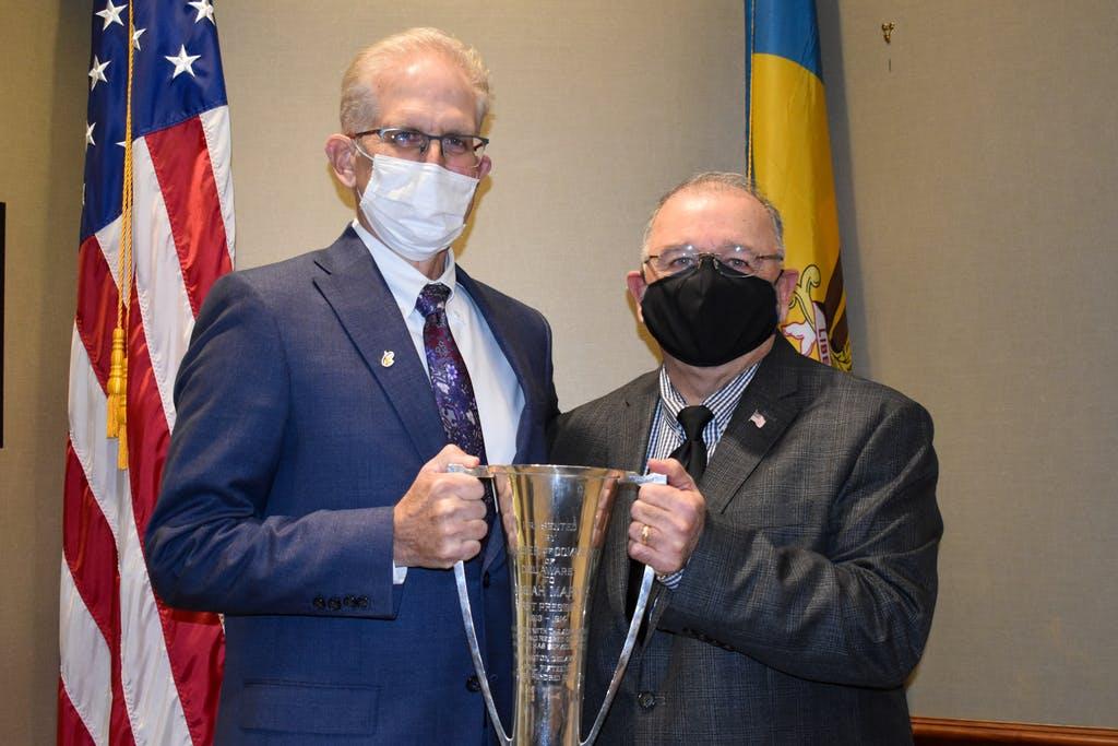 Delaware State Chamber of Commerce Michael Quaranta, left, and Maj. Gen. (Ret.) Francis D. Vavala.