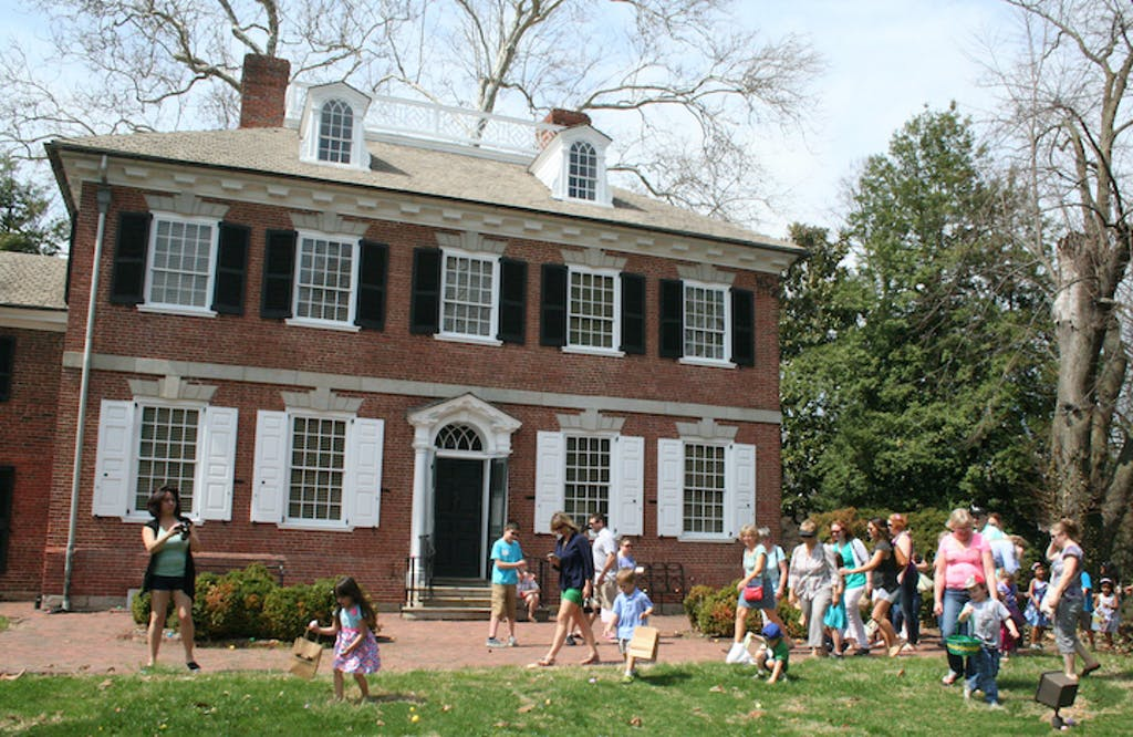 An Easter egg hunt in historic Odessa. (Historic Odessa Foundation photo)