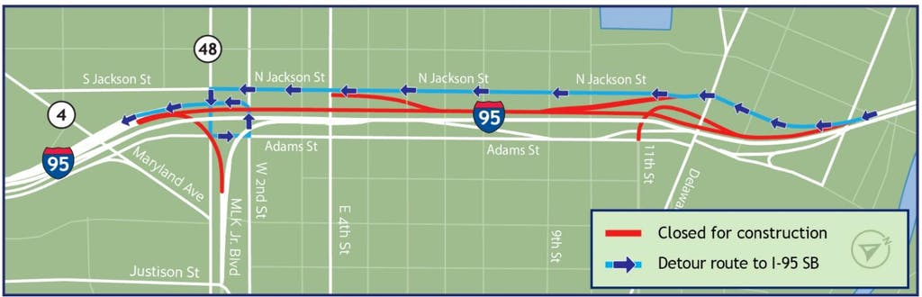 Second stage of I-95 work