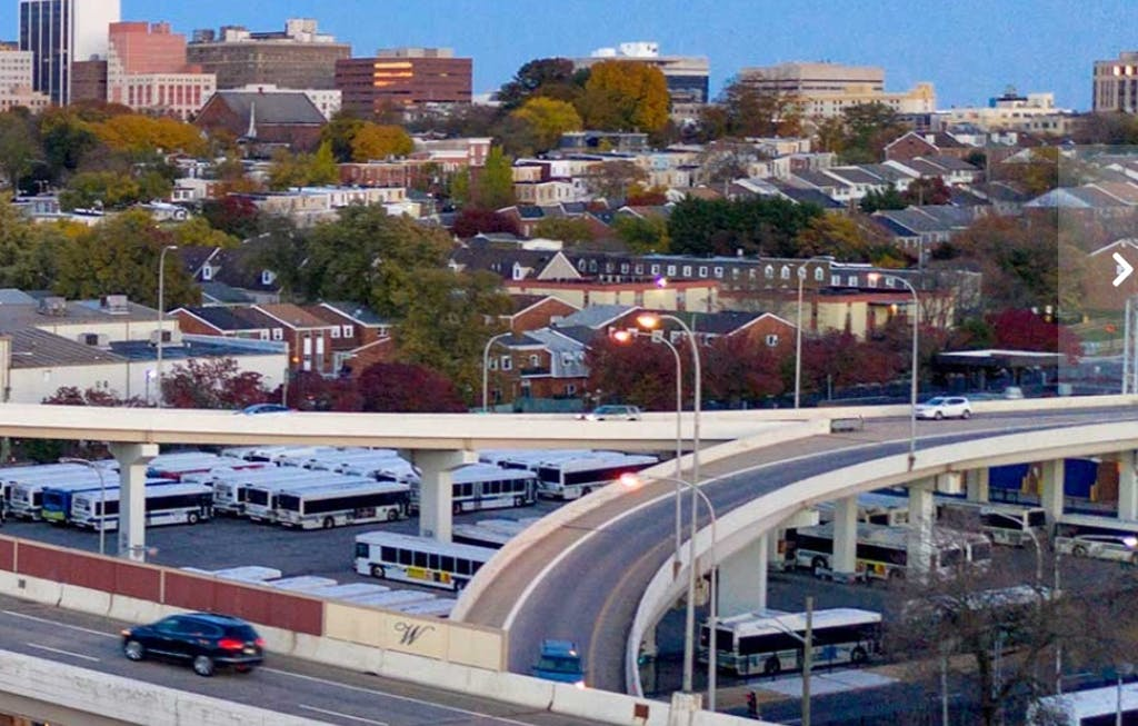 Interstate 95, with the Martin Luther King Boulevard ramps. (Delaware Department of Transportation photo)