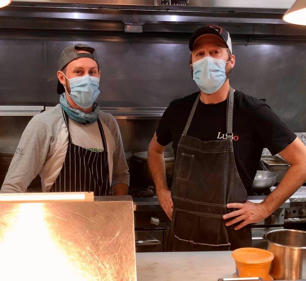 Cooks at Sodel's Lupo's Italian Kitchen in