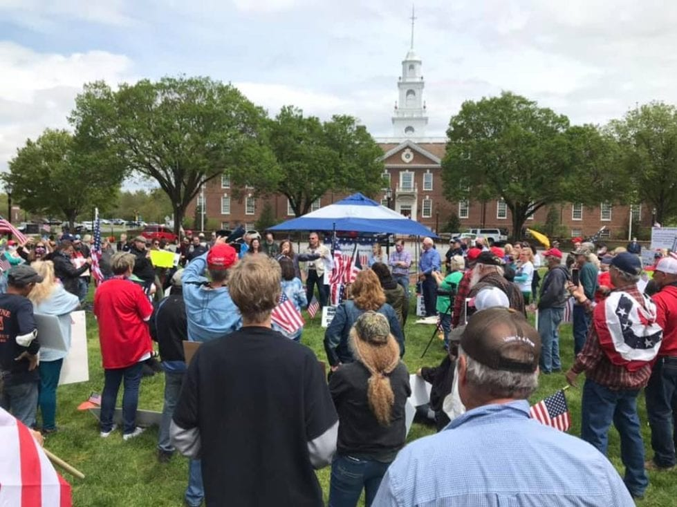 The May 1 rally to reopen schools drew a crowd.