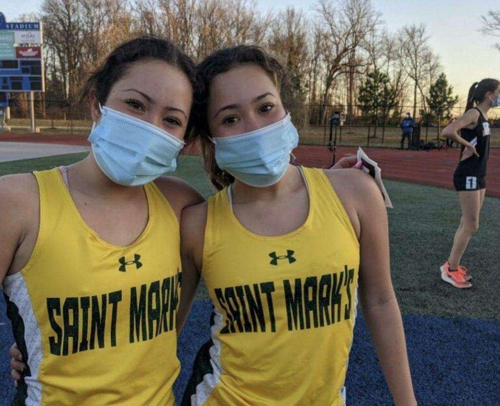 Tiffany, left, and Stephanie Herrera of Saint Mark's