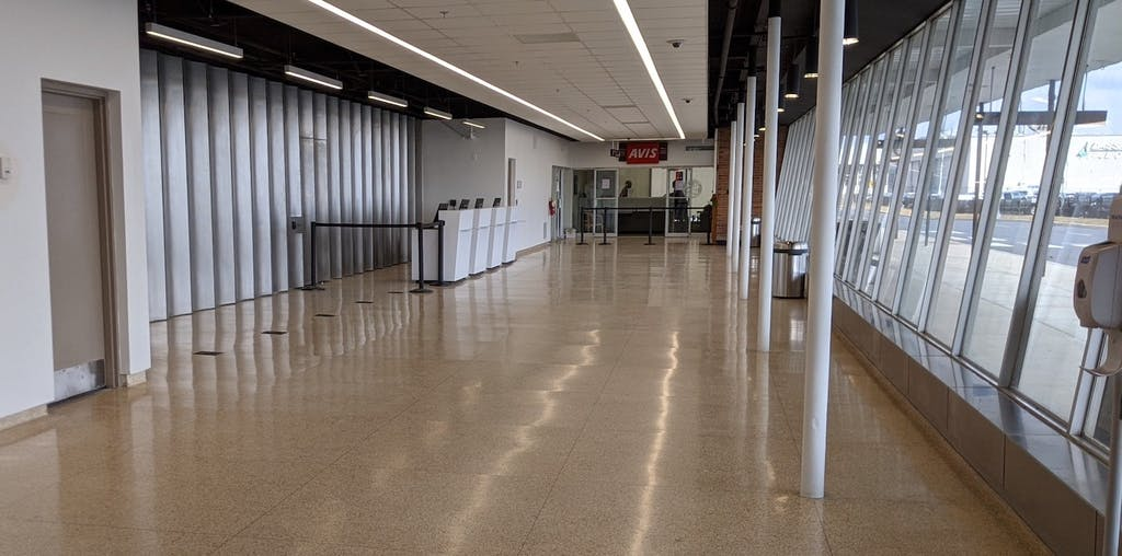 Wilmington-New Castle Airport check-in area. (Delaware River & Bay Authority photo)