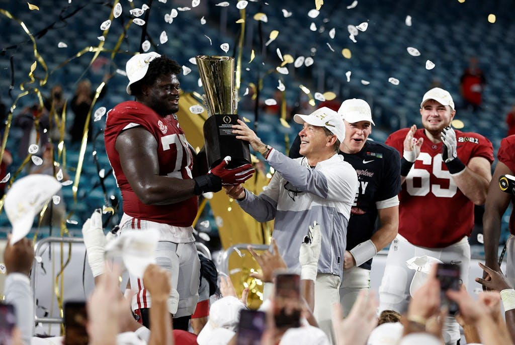 The University of Alabama beat Ohio State Monday night to win the College Football National Championship. Photo from RollTide.com.