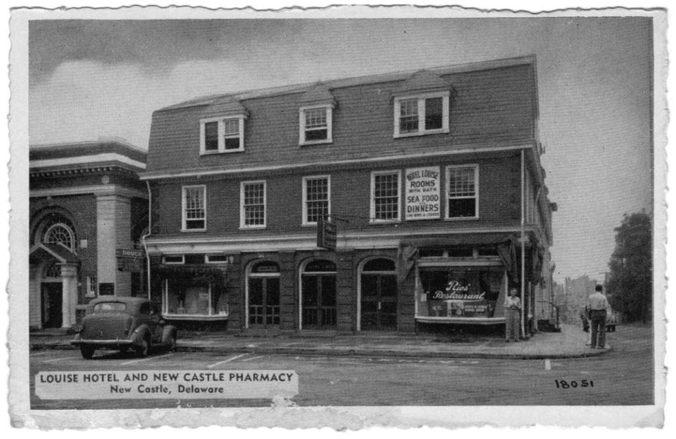 The Louise Hotel and Booth House Tavern in an archival photo.