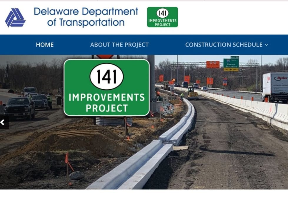 Delaware Route 141 improvements project