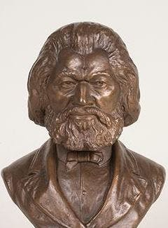 Frederick Douglass bust by Isaac Scott Hathaway. (Delaware Art Museum)