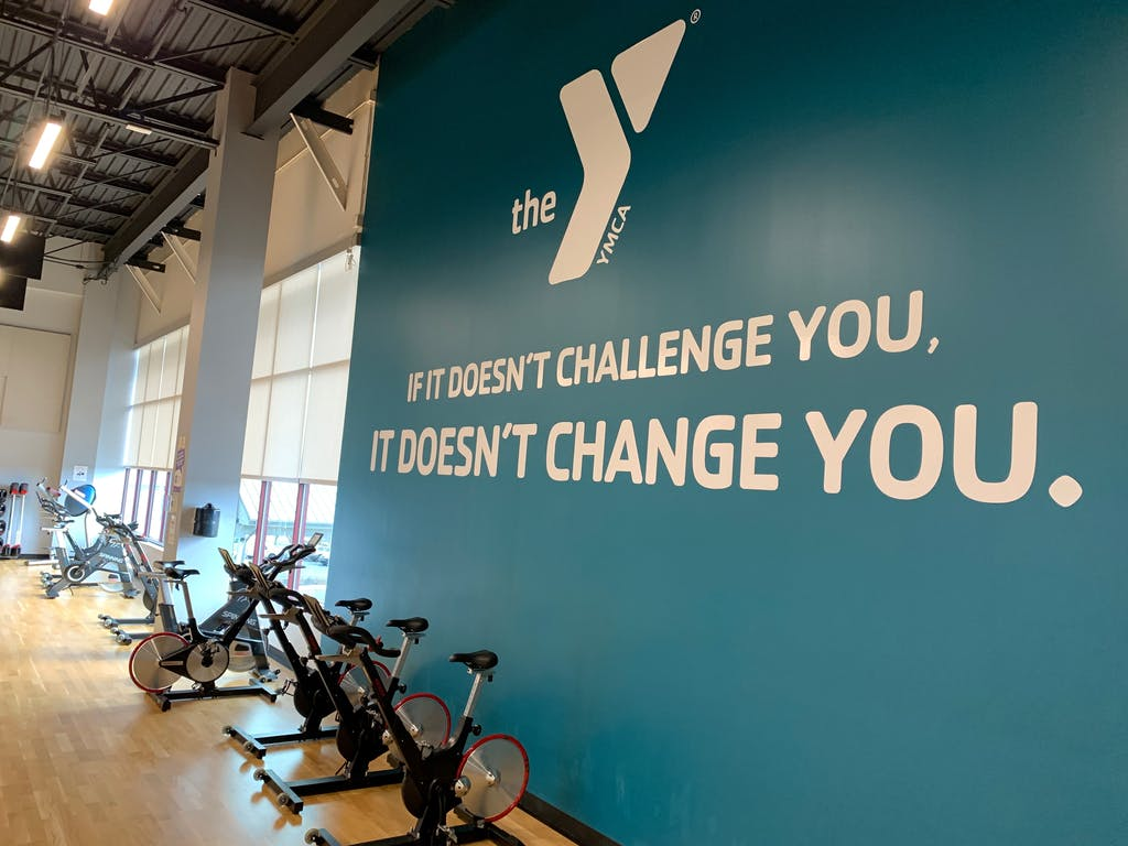Growth Inc. created this wall sign for the YMCA.