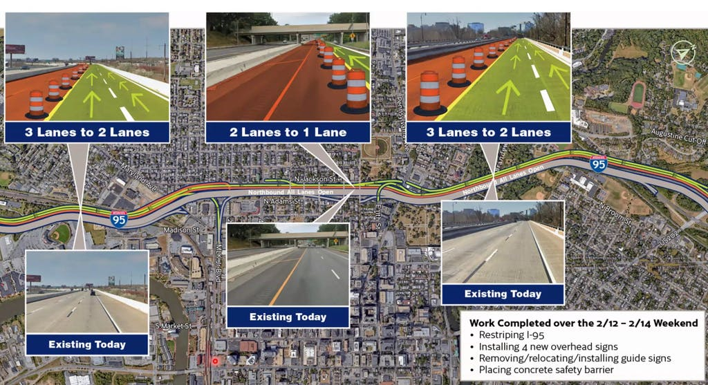 Work planned in mid-February for Restore the Corridor. (DelDOT image)
