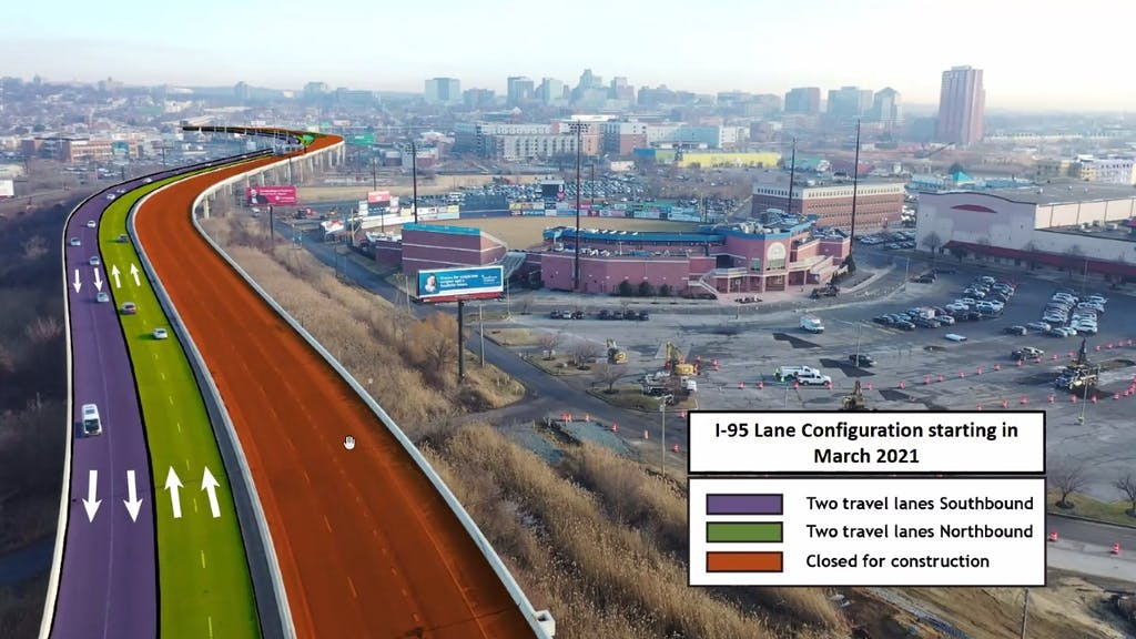 How I-95 will flow in March. (DelDOT)