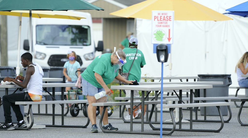 Extra attention to cleaning at the Delaware State Fair (Delaware State Fair)