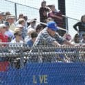 a crowd of people watching a baseball game