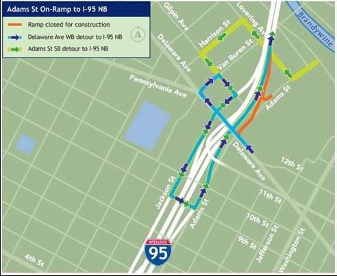 """Featured image for """"One northbound I95 ramp to close, another to open Sunday night"""""""