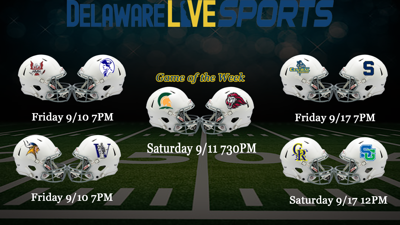 """Featured image for """"Delaware Live week 1 football streaming schedule"""""""