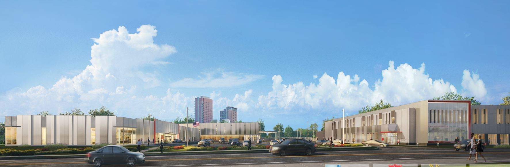 """Featured image for """"Salvation Army beam raising marks start of Riverfront East development"""""""
